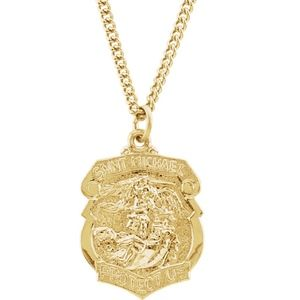"""Other - 24K Gold Plated St. Michael 24"""" Necklace"""
